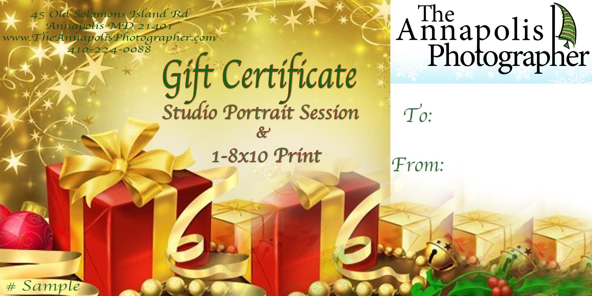 Chritmas Gift Certificate | New Calendar Template Site